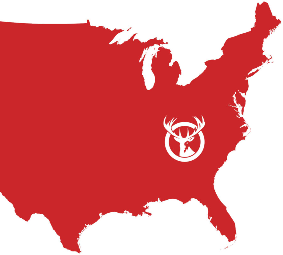 East Coast Map Red Stag Fulfillment