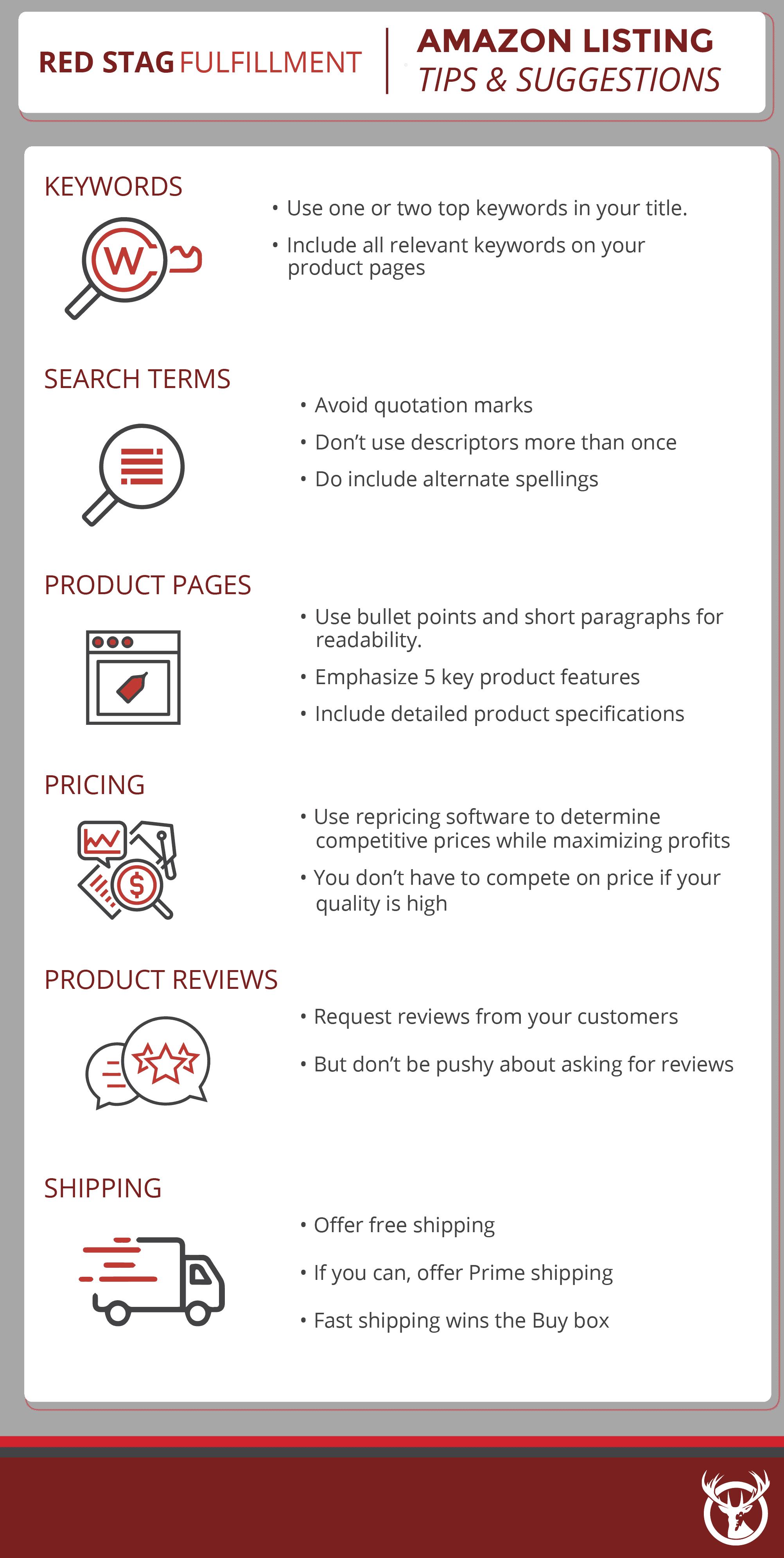 Amazon Listing Optimization Tips