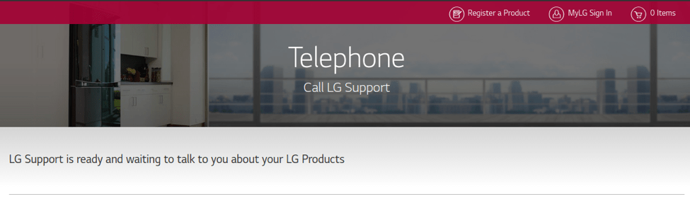 LG phone support