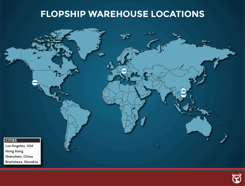 Floship warehouse location map