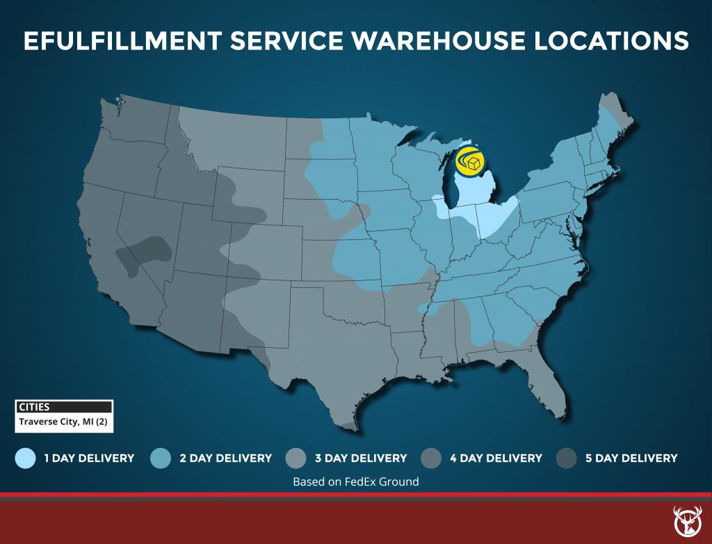 eFufillment Service fulfillment warehouse locations