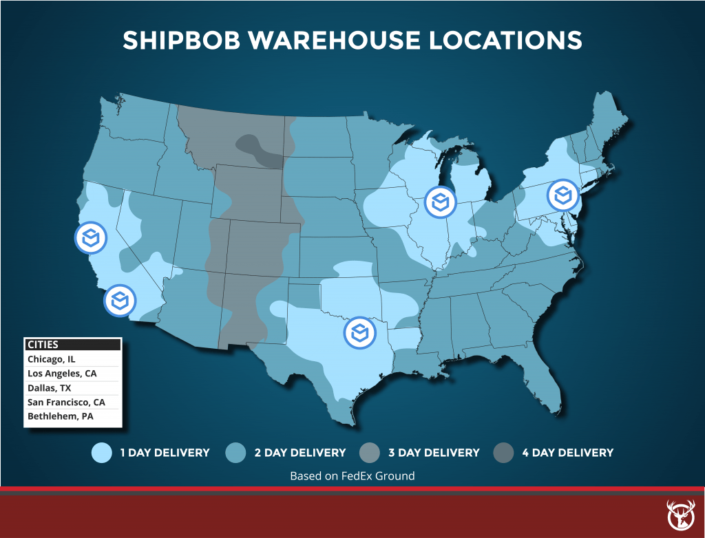 ShipBob fulfillment warehouse locations