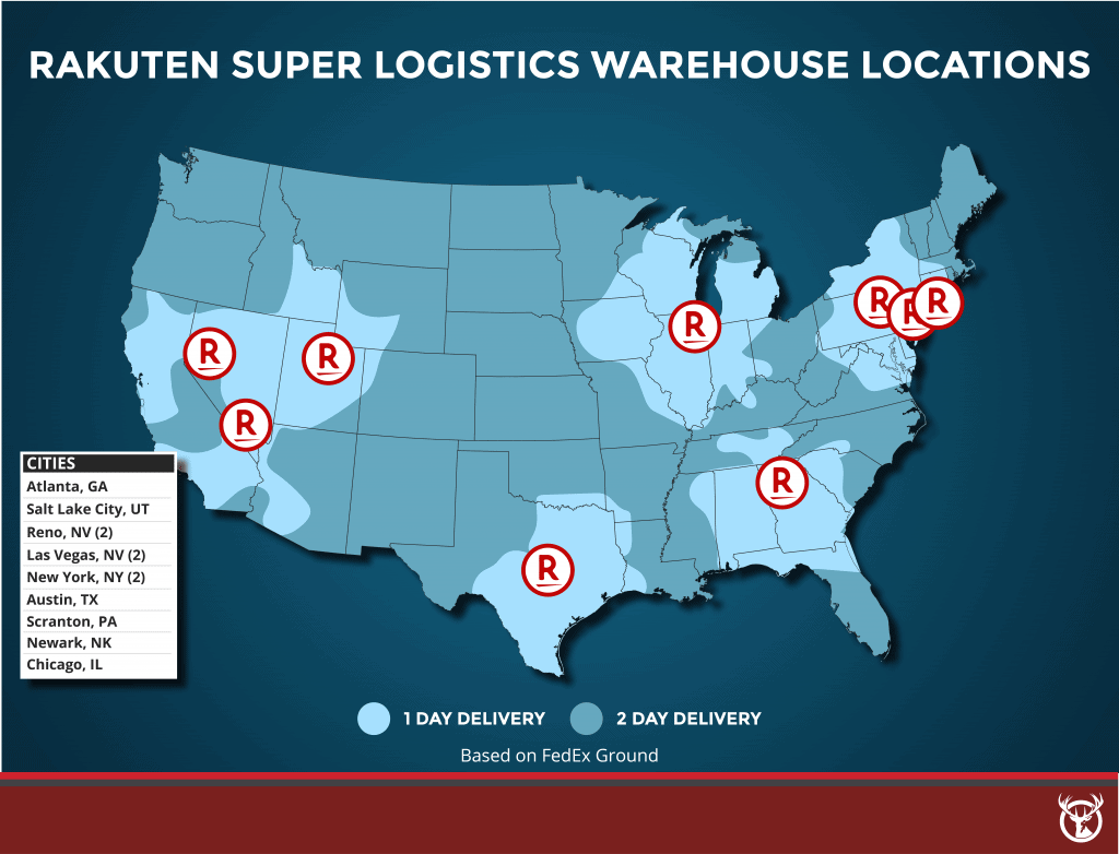 Rakuten Super Logistics warehouse locations