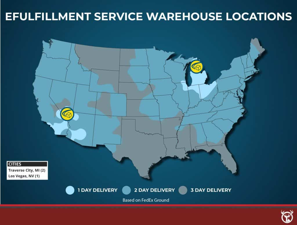 fulfillment best fulfillment warehouse map