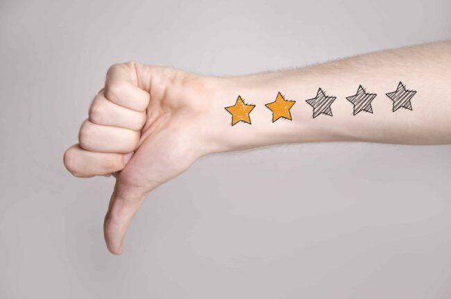 bad rating Amazon