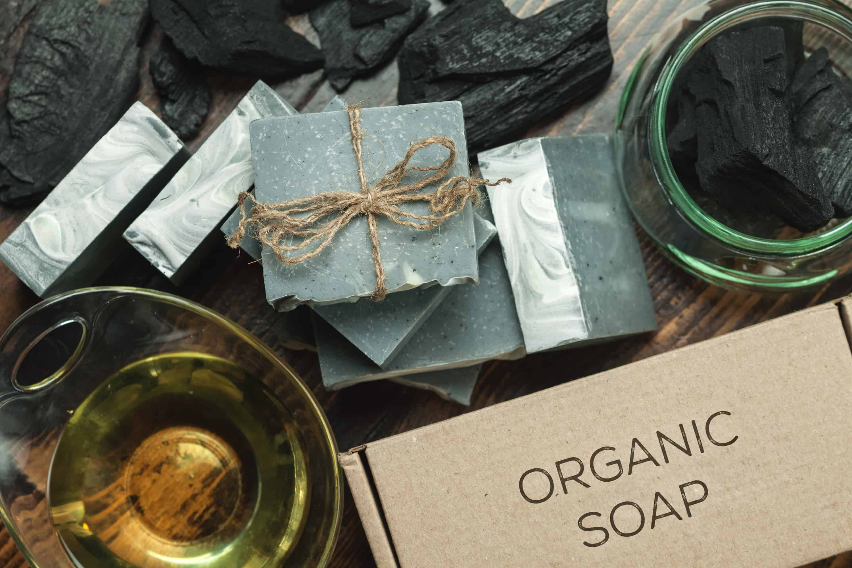 Organic handmade soap packaging